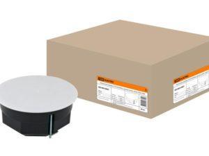 Распаячная коробка СП D103х50мм, крышка, метал. лапки, IP20, инд. штрихкод, TDM SQ1403-0907