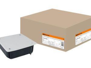 Распаячная коробка СП 115х115х45мм, крышка, метал. лапки, IP20, инд. штрихкод, TDM SQ1403-0908