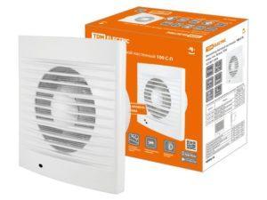 Вентилятор бытовой настенный, 100 С-П, подш. кач, белый, TDM SQ1807-2004