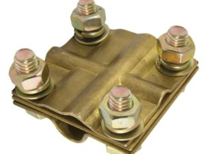 Зажим крестовой ЗКСЛ25 стержень - провод 25-95мм2/полоса 3х25мм TDM