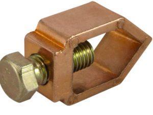 Зажим овальный алюминиевый медное покр. 1-болтовой ЗОАМ14 стержень D14 - провод 16-70 мм2 TDM
