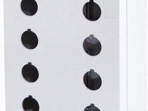 Корпус КП204 для кнопок 8мест белый TDM; SQ0705-0020