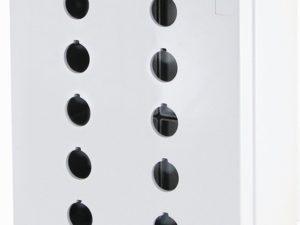 Корпус КП205 для кнопок 10 мест белый TDM; SQ0705-0021