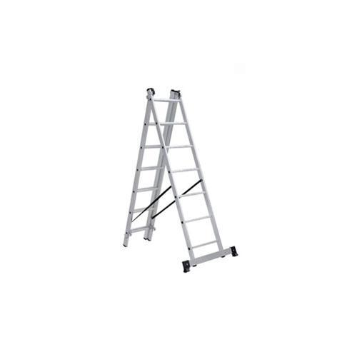 Лестница алюминиевая, ЛА3х12, 3х секционная х 12 ступеней, h=7870 мм, Народная; SQ1028-0204