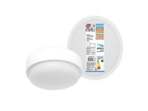 Светодиодный светильник LED ДПП 3901 18Вт 6500К IP65 белый круг 174*62 мм Народный; SQ0366-0141