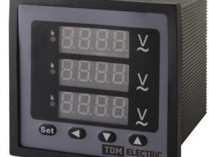 Цифровой вольтметр ЦП-В72х3 0-320кВ-0,5-Р (трехфазный) TDM; SQ1102-0526