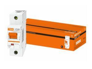 Автоматический выключатель ВА47-125 1P 20А 15кА х-ка С