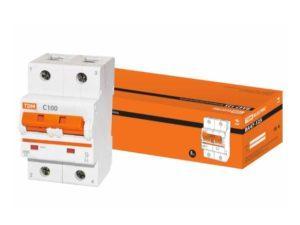 Автоматический выключатель ВА47-125 2P 100А 15кА х-ка С