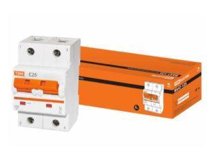 Автоматический выключатель ВА47-125 2P 25А 15кА х-ка С