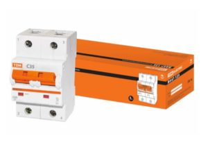 Автоматический выключатель ВА47-125 2P 35А 15кА х-ка С