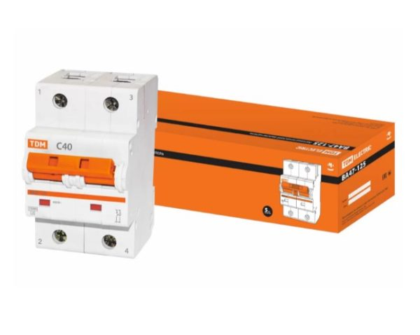Автоматический выключатель ВА47-125 2P 40А 15кА х-ка С