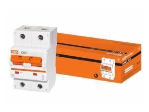 Автоматический выключатель ВА47-125 2P 63А 15кА х-ка С