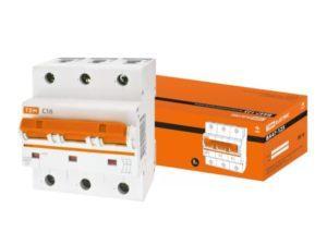 Автоматический выключатель ВА47-125 3P 16А 15кА х-ка С