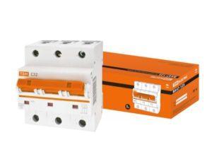 Автоматический выключатель ВА47-125 3P 32А 15кА х-ка С