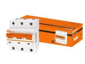 Автоматический выключатель ВА47-125 3P 50А 15кА х-ка С