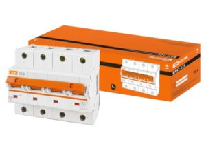 Автоматический выключатель ВА47-125 4P 16А 15кА х-ка С