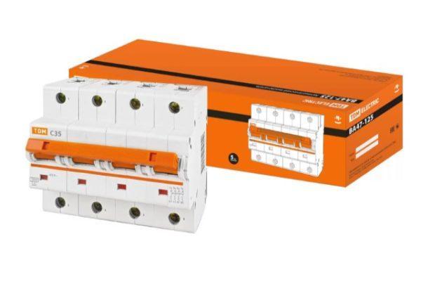 Автоматический выключатель ВА47-125 4P 35А 15кА х-ка С