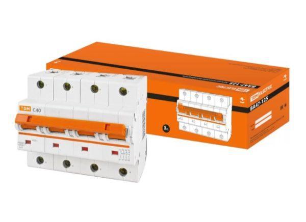 Автоматический выключатель ВА47-125 4P 40А 15кА х-ка С