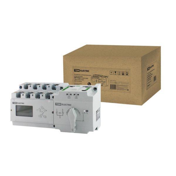 Устройство автоматического ввода резерва АВР-ПНД 4П 160А 380В с дисплеем TDM; SQ0743-0030