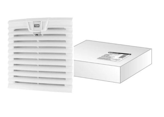Вентиляционная решетка с фильтром для вентилятора ВФУ SQ0832-0112 (204 мм) TDM SQ0832-0117